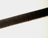 Klettband 16mm schwarz 1 Meter